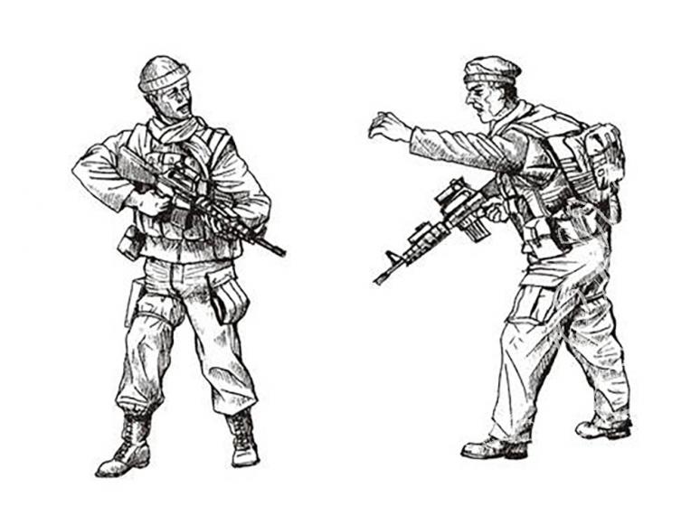 CMK figurine f35186 Special Forces Afghanistan 2 figurines 1/35