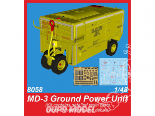 Cmk kit 8058 Unité d'alimentation au sol MD-3 1/48