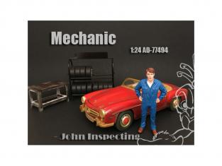 American Diorama figurine AD-77494 Mécanicien - John Inspecte 1/24