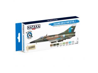 Hataka Hobby peinture acrylique Blue Line BS27 Set de peinture Falklands Conflict paint set vol. 1 8 x 17ml