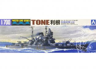 Aoshima maquette bateau 45343 Tone Croiseur lourd I.J.N. Water Line Series 1/700