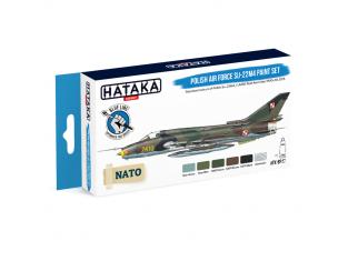 Hataka Hobby peinture acrylique Blue Line BS47 Ensemble de peinture Polish Air Force Su-22M4 set 6 x 17ml