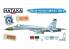 "Hataka Hobby peinture acrylique Blue Line BS104 Early Su-27S/P/UB ""Flanker-B/C"" paint set 6 x 17ml"