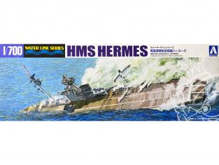 Aoshima maquette bateau 51009 HMS Hermes Water Line Series 1/700