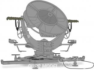 Planet Maquettes Militaire mv188 Dispositif d'écoute directionnelle (RRH) allemand full resine kit 1/72