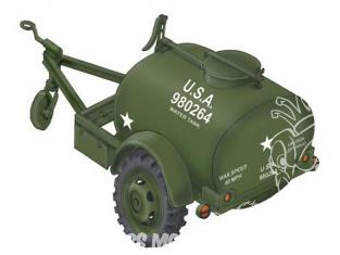 Planet Maquettes Militaire mv087 Remorque réservoir d'eau de la Seconde Guerre mondiale Ben Hur full resine kit 1/72