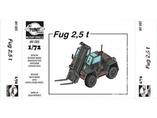 Planet Maquettes Militaire mv085 Chariot elevateur FUG 2,5 ton full resine kit 1/72