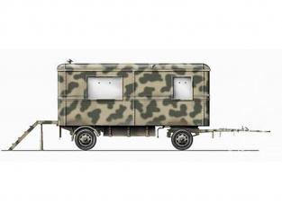Planet Maquettes Militaire mv070 Caravane de commandement Allemande full resine kit 1/72