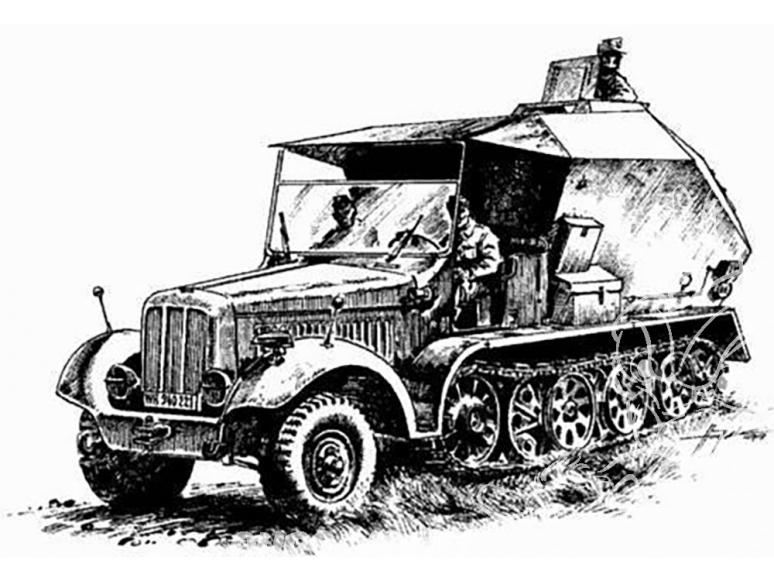 Planet Maquettes Militaire mv015 SdKfz 7/3 Feuerleitpanzer full resine kit 1/72