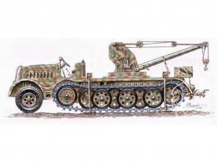 Planet Maquettes Militaire mv035 FAMO 18 tonnes avec grue Bilstein 6 tonnes full resine kit 1/72