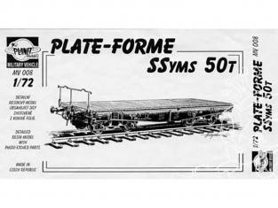 Planet Maquettes Militaire mv008 Platform wagon SSyms 50 ton full resine kit 1/72
