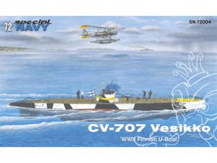 Special navy sous marin SN72004 CV 707 Vesikko WWII Finnish U-Boat 1/72