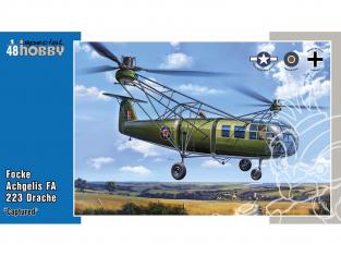Special Hobby maquette helicoptére 48201 Focke Achgelis FA 223 Drache Capturé 1/48