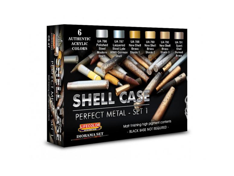 Lifecolor set de peintures cs47 Couleurs acryliques Lifecolor métallique pour les cartouches et les balles