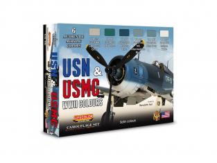 Lifecolor set de peintures cs46 Couleurs acryliques Lifecolor pour les avions américains de la Seconde Guerre mondiale