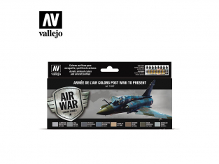 Vallejo Set Air War series 71627 Armée de l'Air colors post WWII to present 8x17ml