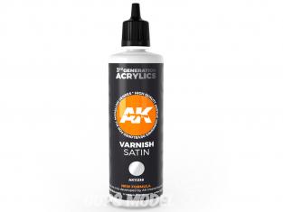 Ak interactive peinture acrylique 3G AK11238 Vernis Satiné 100ml