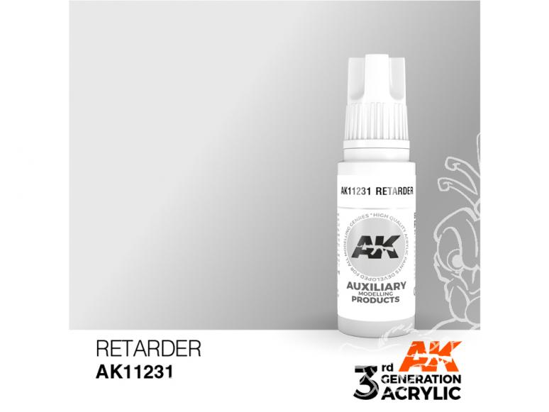 Ak interactive peinture acrylique 3G AK11231 Medium Retardateur de séchage 17ml