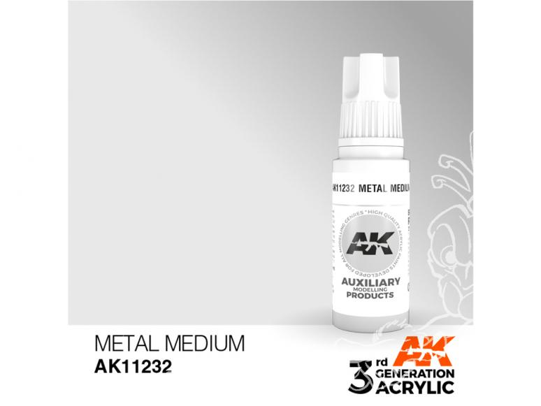 Ak interactive peinture acrylique 3G AK11232 Medium métal 17ml