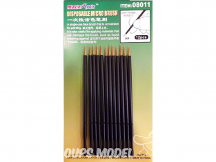 Trumpeter outillage 08011 12 MICRO BROSSE JETABLE