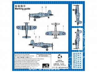 TRUMPETER maquette avion 06405 F4U-4 Corsair pré-peint 1/350
