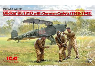 Icm maquette avion 32034 Bücker Bü 131D avec German Cadets (1939-1945) 1/32