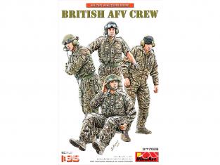 Mini Art maquette militaire 37059 ÉQUIPAGE Britannique d'AFV 1/35