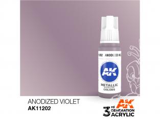 Ak interactive peinture acrylique 3G AK11202 Violet anodisé métallique 17ml