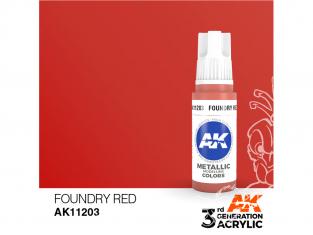Ak interactive peinture acrylique 3G AK11203 Rouge fonderie métallique 17ml