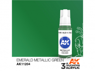 Ak interactive peinture acrylique 3G AK11204 Vert émeraude métallique 17ml