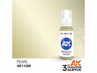 Ak interactive peinture acrylique 3G AK11206 Perle - Blanc nacré 17ml
