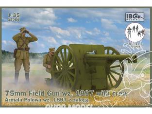 IBG maquette militaire 35059 Canon de campagne Schneider 75 mm wz.1897 avec équipage 1/35