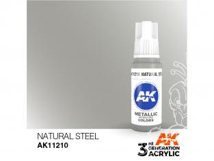 Ak interactive peinture acrylique 3G AK11210 Acier naturel 17ml