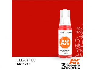 Ak interactive peinture acrylique 3G AK11213 Rouge transparent 17ml