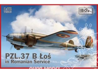 IBG maquette avion 72516 PZL 37B ŁOŚ en service roumain 1/72