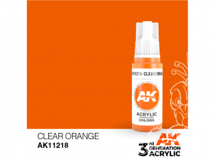 Ak interactive peinture acrylique 3G AK11218 Orange transparent 17ml