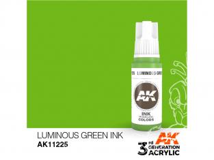 Ak interactive peinture acrylique 3G AK11225 Encre vert lumineux 17ml