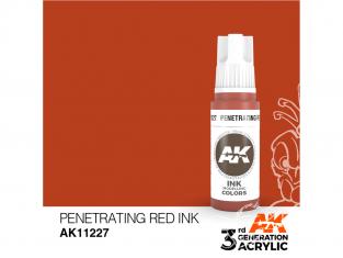 Ak interactive peinture acrylique 3G AK11227 Encre rouge pénétrant 17ml