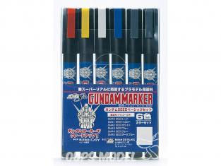 Mr Hobby GMS-109 Gundam Marker Gundam SET Basic 6 Color Set