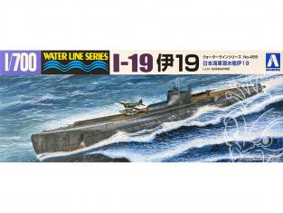 Aoshima maquette bateau 52082 Sous-marin I-19 I.J.N. Water Line Series 1/700