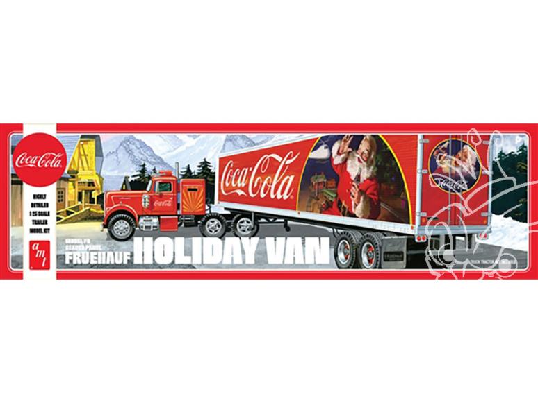 """AMT maquette camion 1165 Remorque Fruehauf """"Coca-Cola"""" Holiday Hauler 1/25"""