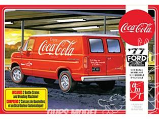 """AMT maquette voiture 1173 Ford Van 1977 avec distributeur automatique et caisses """"Coca-Cola"""" 1/25"""