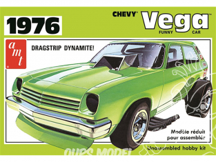 AMT maquette voiture 1156 1976 Chevy Vega Funny Car 1/25