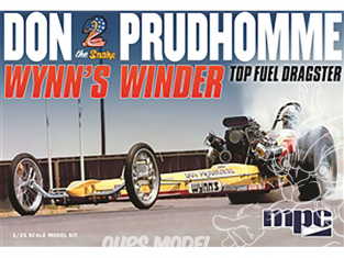 """MPC maquette voiture 921 Don """"Snake"""" Prudhomme Wynns Winder """"Front Engine"""" Top Fuel Dragster 1/25"""