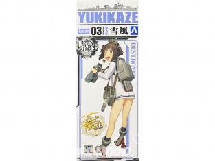 Aoshima maquette bateau 10105 Yukikaze KanColle 1/700