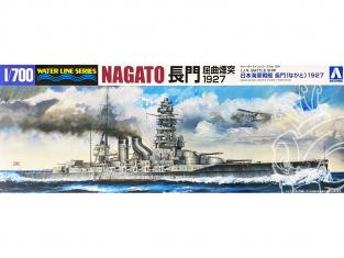 Aoshima maquette bateau 45114 Nagato 1927 I.J.N. Water Line Series 1/700