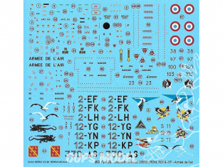 Decalques Berna decals BD72-122 Dassault Mrirage 2000CRCI RDM ET -5F 1/72