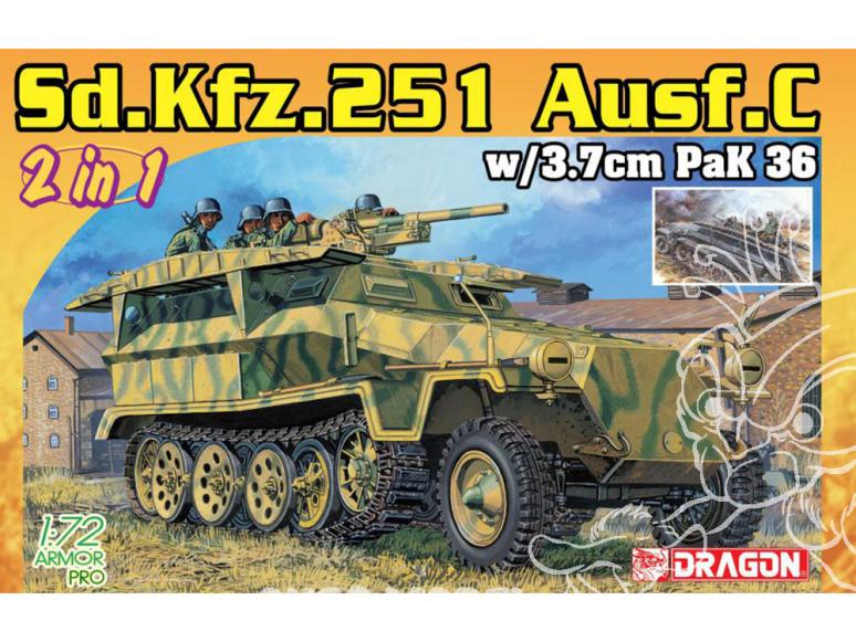 Dragon maquette militaire 7606 Sd.Kfz.251/7 Ausf.C Pionierpanzerwagen (2 in 1) 1/72