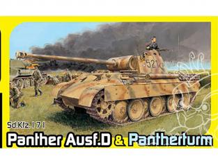 Dragon maquette militaire 6940 Sd.Kfz.171 Panther Ausf.D & Pantherturm 1/35