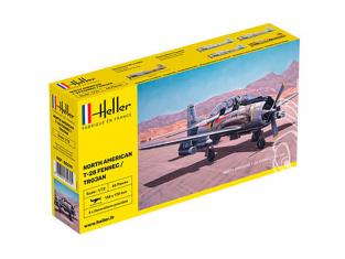Heller maquette avion 80279 NORTH AMERICAN T-28 FENNEC /TROJAN 1/72